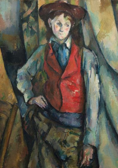 Cezanne, Paul: Boy in a Red Waistcoat. Fine Art Print/Poster. Sizes: A4/A3/A2/A1 (004224)